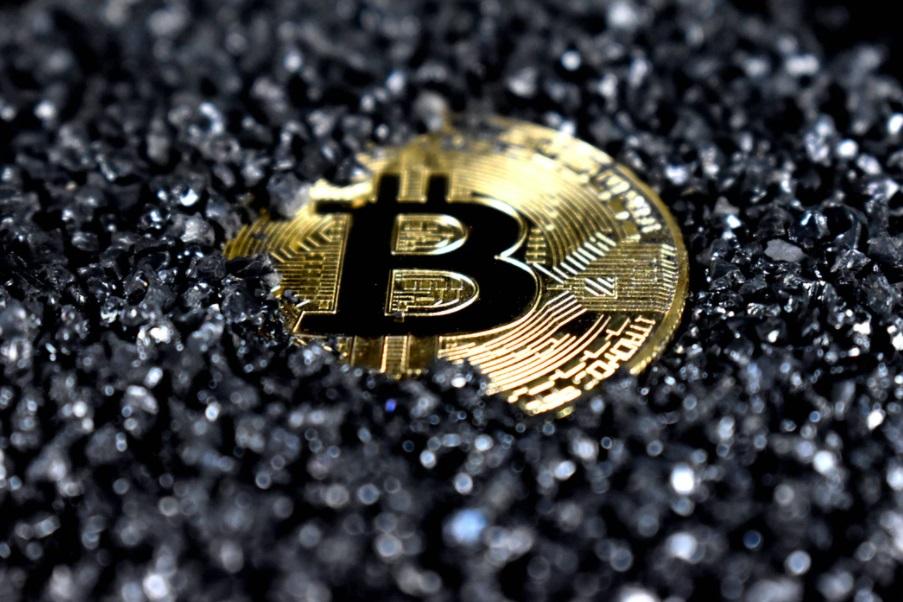 Bitcoin dans charbon
